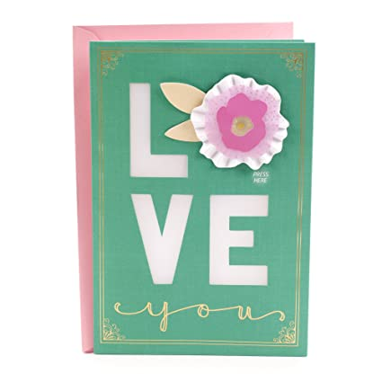 Amazon hallmark mothers day greeting card with music love hallmark mothers day greeting card with music love with 3d flower m4hsunfo