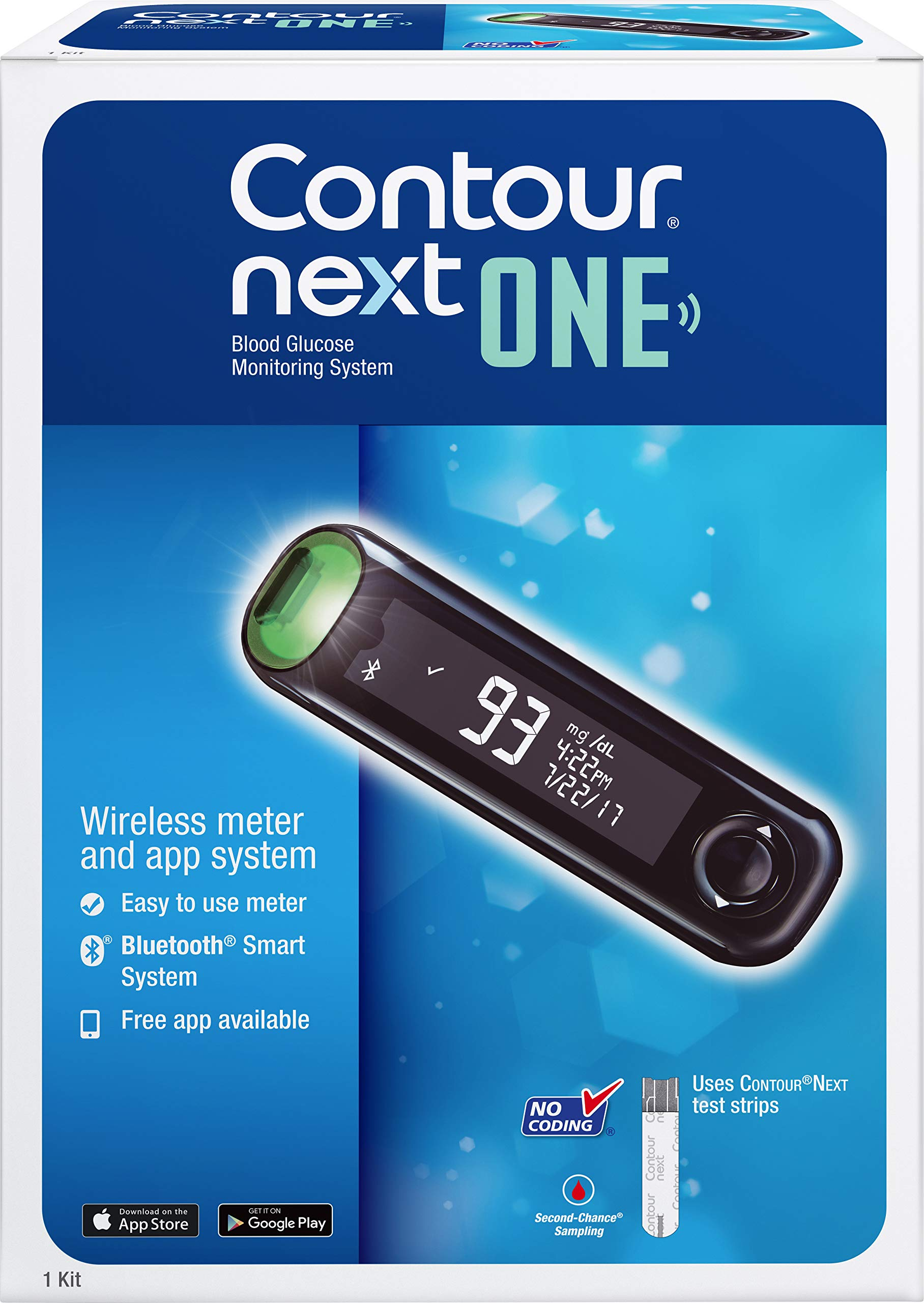 The CONTOUR NEXT ONE Blood Glucose Monitoring System