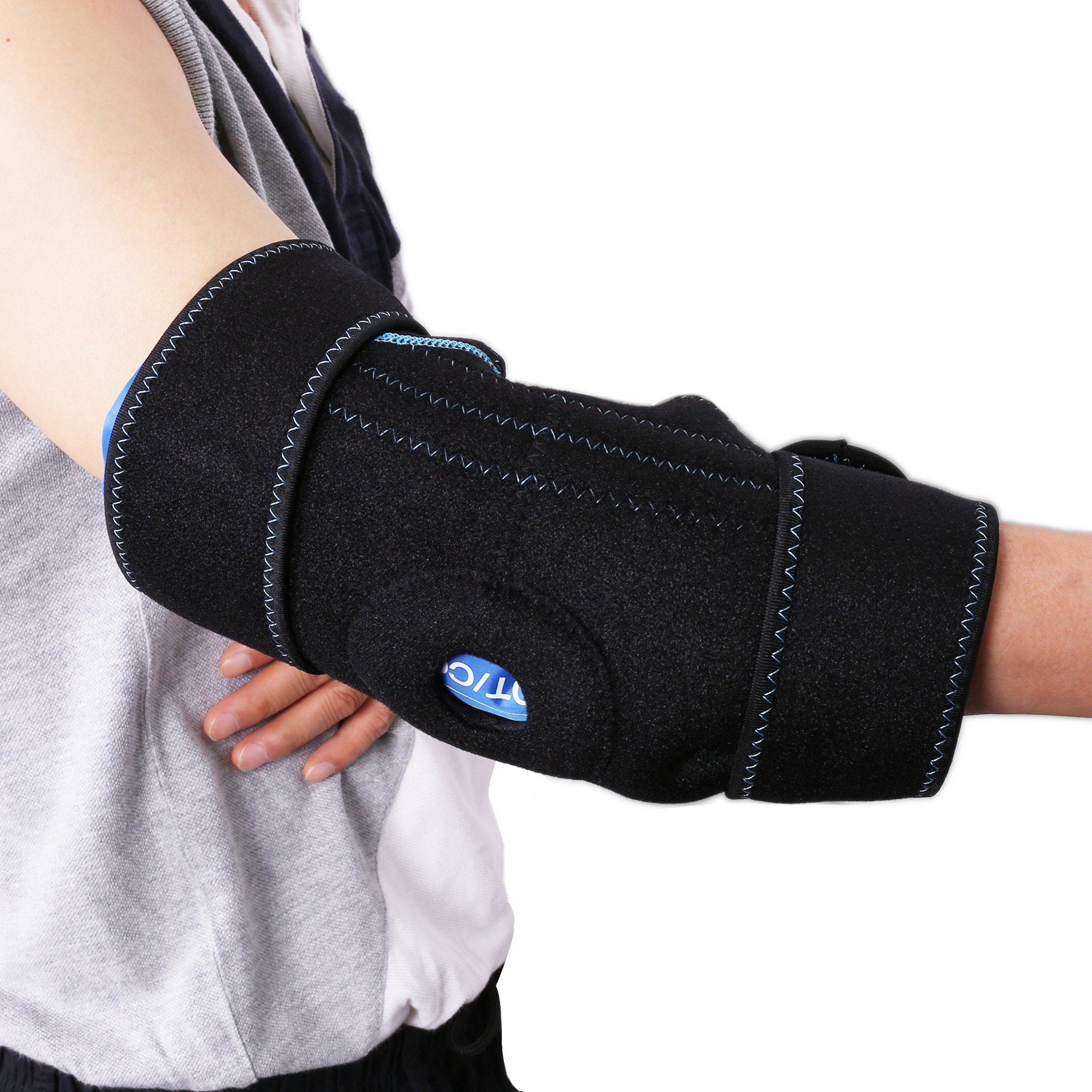 Gel Pack with Elbow Support Wrap for Cold Hot Therapy by LotFancy - Hot Cold Ice Pack for Injuries, Sprained Elbows, Tendonitis, Arthritis, and Other Sports Injuries, FDA Approved