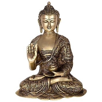 Amazon Com Kapasi Handicrafts Emporium Vzx204 Brass Buddha Sitting