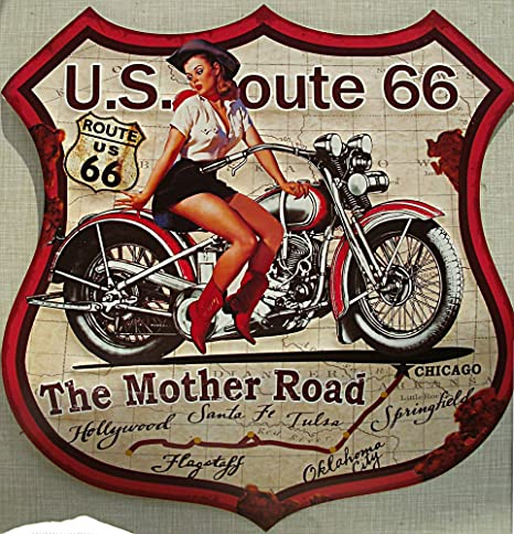 BFB Route 66 - The Road Cartel de Chapa Madre, 48 x 48 cm ...