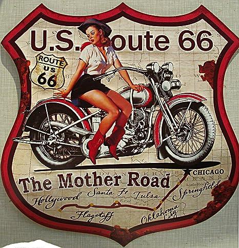 BFB Route 66 - The Road Cartel de Chapa Madre, 48 x 48 cm ...