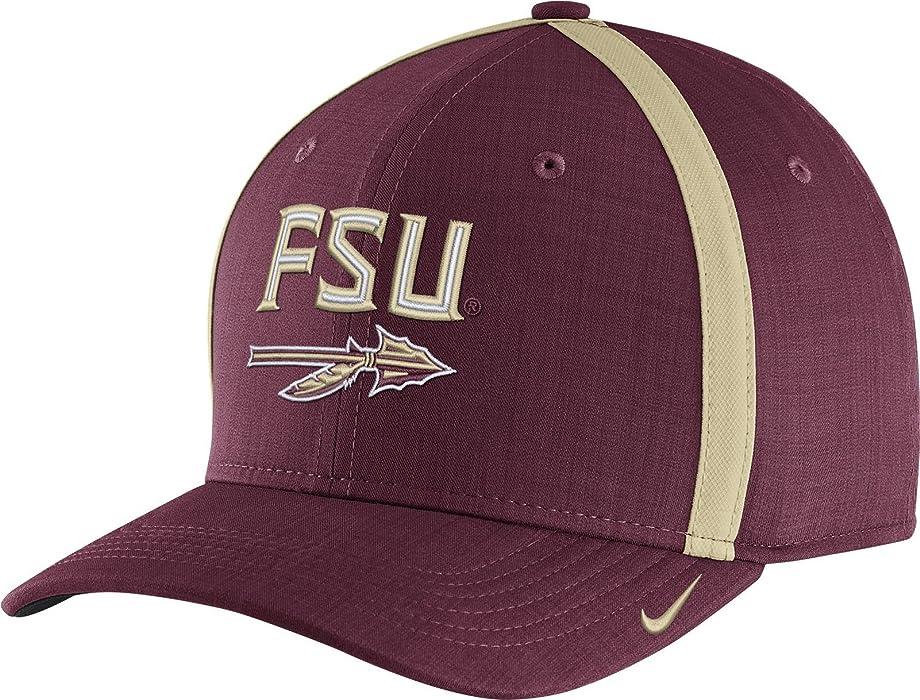 bdffa43b Nike Men's Florida State Seminoles Garnet AeroBill Football Sideline Coaches  Classic99 Hat (OneSize)