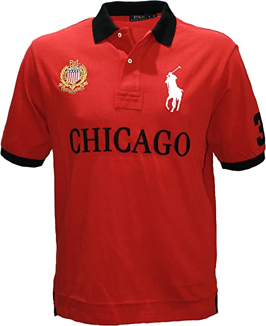 Polo Ralph Lauren Hombre Pony camiseta Top Ciudad Chicago Custom ...