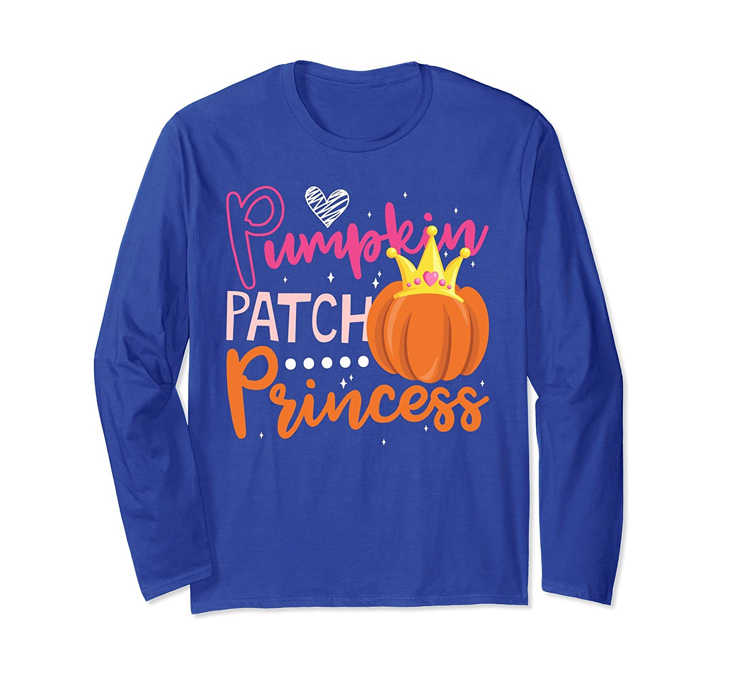 Cute Pumpkin Patch Princess Halloween Shirt for Girls-mt