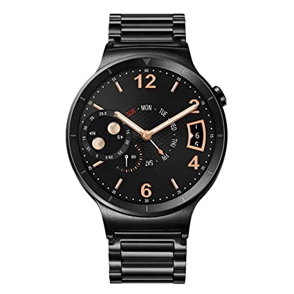 Huawei Watch Black Stainless Steel with Black Stainless Steel Link Band (US Warranty)