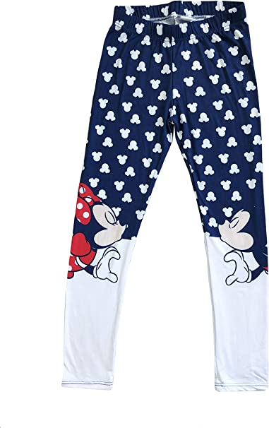 Disney Minnie Girls Leggings Soft Leggings Cute Patterned Leggings Tights Fit for Yoga or Exercise