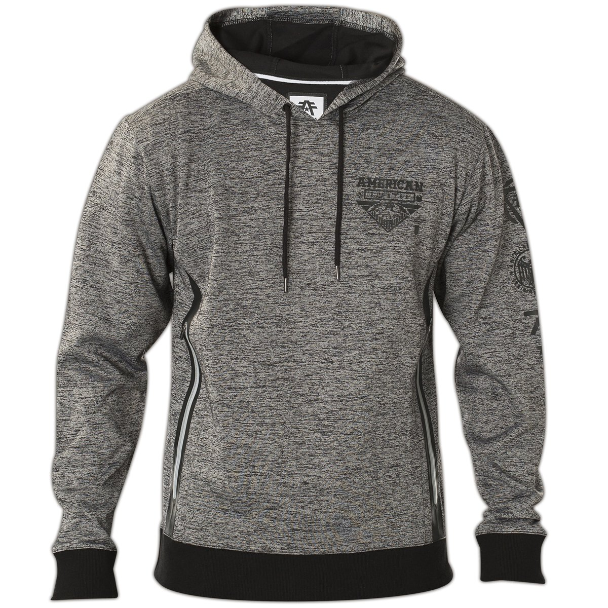 American Fighter by Affliction Hoody Light Out Grau