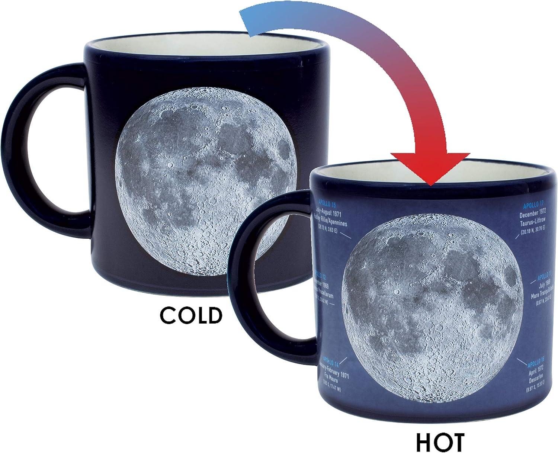 Amazon.com: Taza con diseño de luna que cambia de calor ...