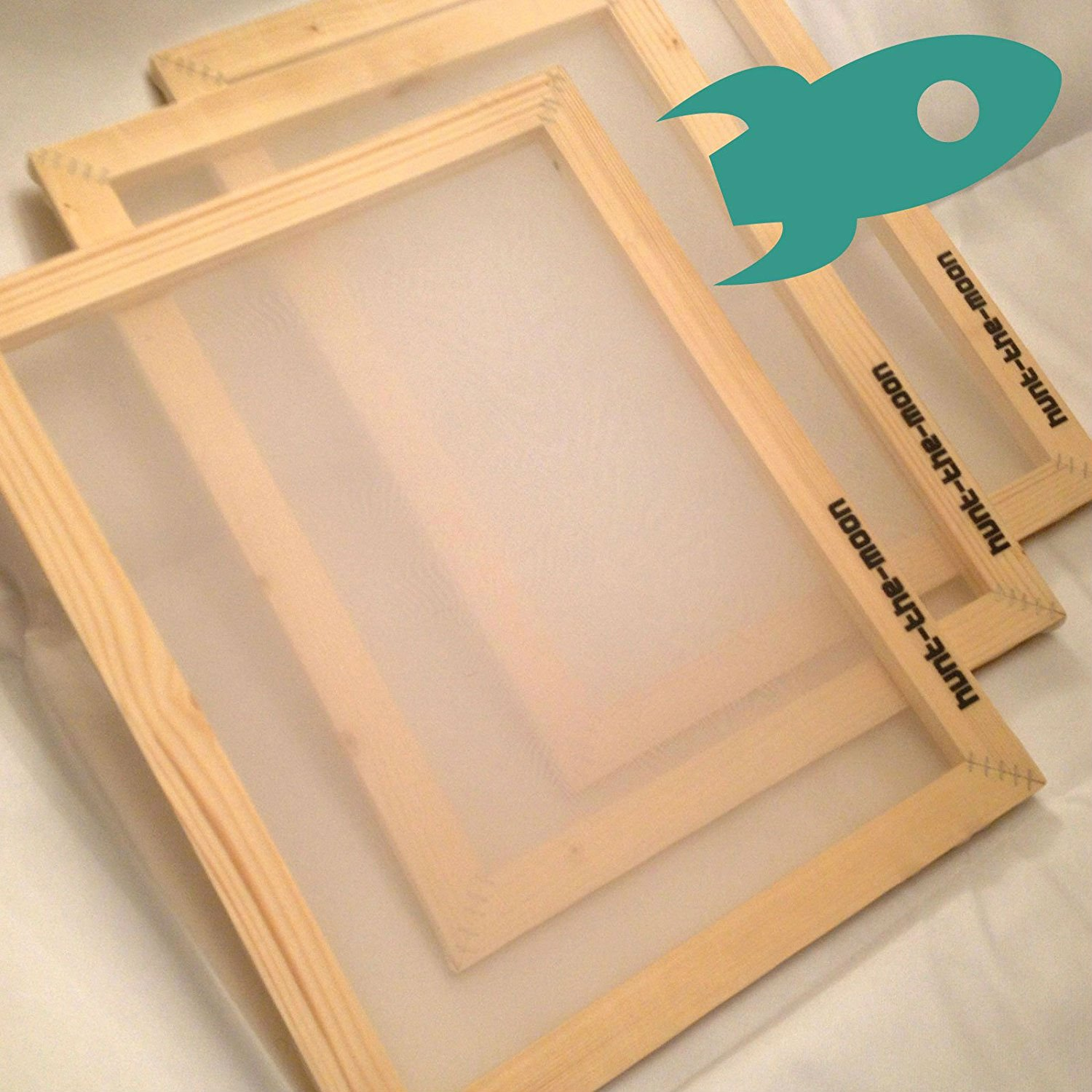 A5 Silk Screen Frame 90T mesh - textiles printing print screenprinting Hunt The Moon
