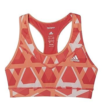 Adidas Sport-BH Techfit Triax-Print Camiseta, Mujer: Amazon.es: Deportes y aire libre
