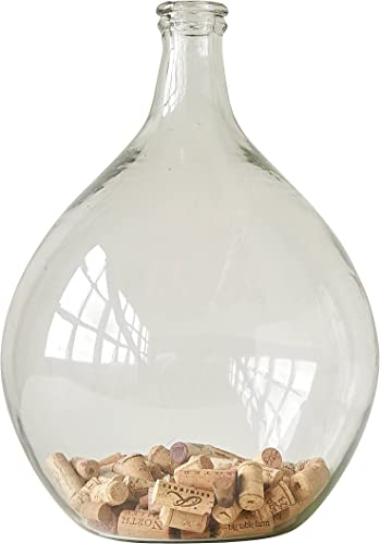 Creative Co-Op Decorative Glass Bottle Vase, 18 Inch, Clear
