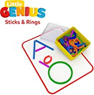 Osmo - Little Genius Sticks & Rings - Includes 2 Games - ABCs & Squiggle Magic - Ages 3-5 - Letter Formation, Fine Motor Ski