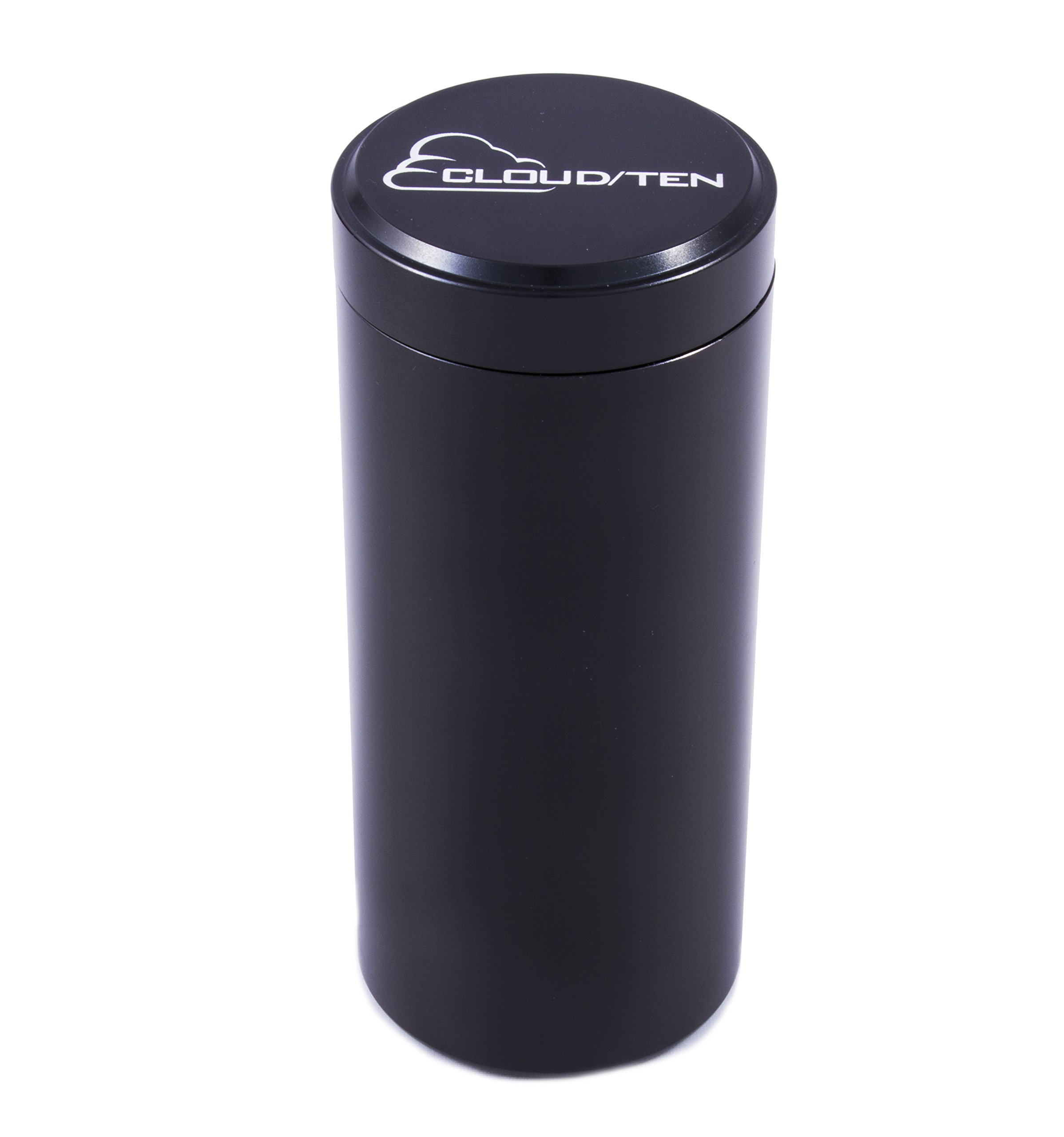"""Cloud/Ten 20G 5"""" Airtight Herb Stash Jar Container - Solid Aluminum Smell Proof Case Holds up to 20 Grams of Herb, Tobacco and Spices (1)"""