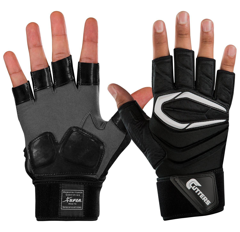 CuttersメンズThe Force。5 2.0 Lineman Glove B01N6URWBN ブラック X-Large