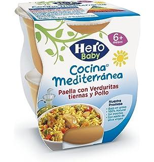 Hero Baby - Cocina Mediterránea Paella Con Verduritas Tiernas Y Pollo - , Pack de 6