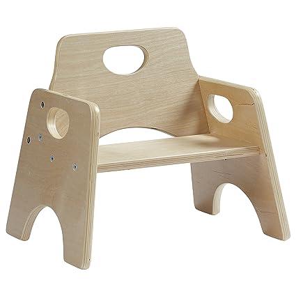 Beau ECR4Kids 6u0026quot; Stackable Wooden Toddler Chair, ...
