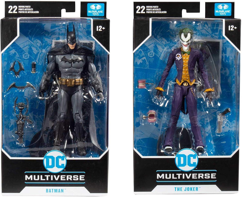 Arkham Asylum DC Multiverse 7-Inch Action Figures Set of 2