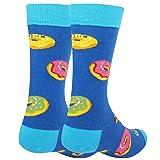 Men's Funny Novelty Crew Dress Socks, Crazy Food