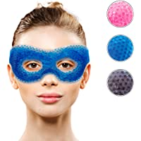 Gel Eye Mask with Eye Holes- Hot Cold Compress Pack Eye Therapy | Cooling Eye Mask for Puffy Eyes, Dry Eyes, Headaches…