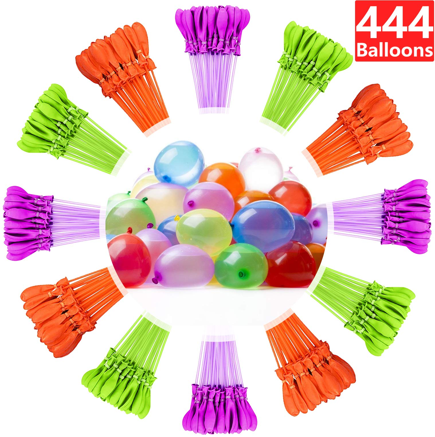 Water Balloons for Kids Girls Boys Balloons Set Party Games Quick Fill Water Balloons 444 Bunches Swimming Pool Outdoor Summer Fun L13 by Magic balloons