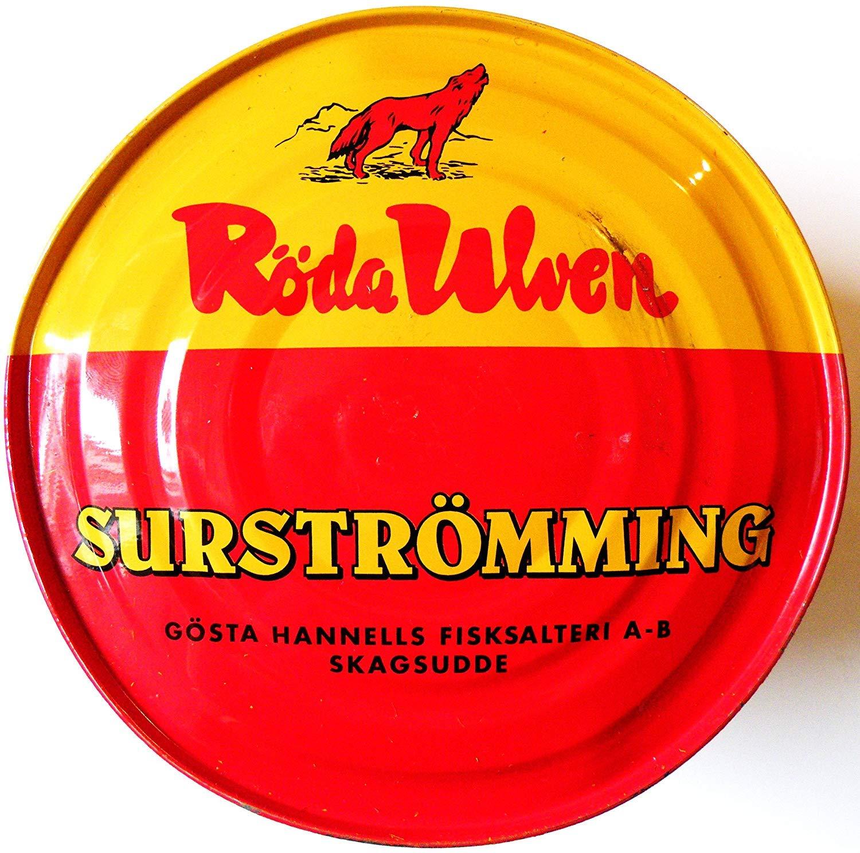 Röda Ulven Surströmming 400g / 300g Poisson peut (hareng fermenté)