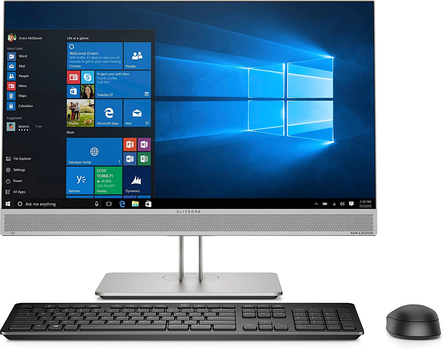 "HP EliteOne 800 G5 All-in-One Computer - Core i5 i5-9500 - 16 GB RAM - 256 GB SSD - 23.8"" 1920 X 1080 - Desktop - Windows 10 Pro 64-bit - Intel UHD Graphics 630 - DVD-Writer - English Keyboard"