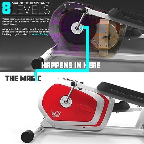 We R Sports Bicicleta Elíptica 2 en 1, Máquina de Cardio, para Entrenamiento: Amazon.es: Deportes y aire libre