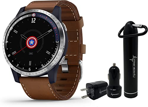 Garmin Legacy Hero Series Special Edition Smartwatch with Included Wearable4U Power Pack Bundle First Avenger 45mm