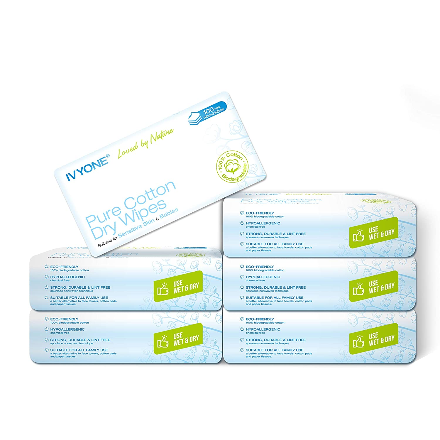 Ivyone Pure Cotton Dry Wipes– For kids