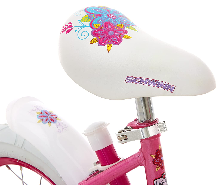ac1960436 Amazon.com   Schwinn Petunia Girl s Steerable Bike With Training Wheels