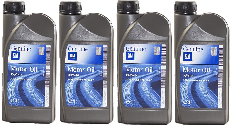 Aceite Lubricante Motor Semi-sintetico - General Motor Opel 10w40, 4 litros (4x1 lt) : Amazon.es: Coche y moto