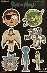 Rick and Morty 7-Piece Magnet Set