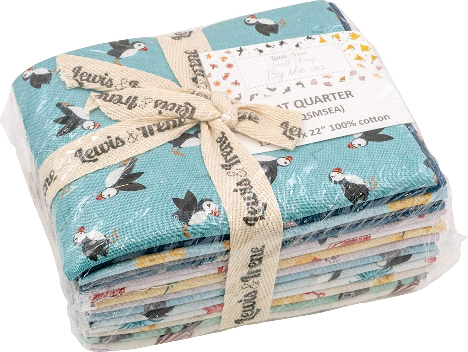 Small Things/… by The Sea 15 Fat Quarters Lewis /& Irene
