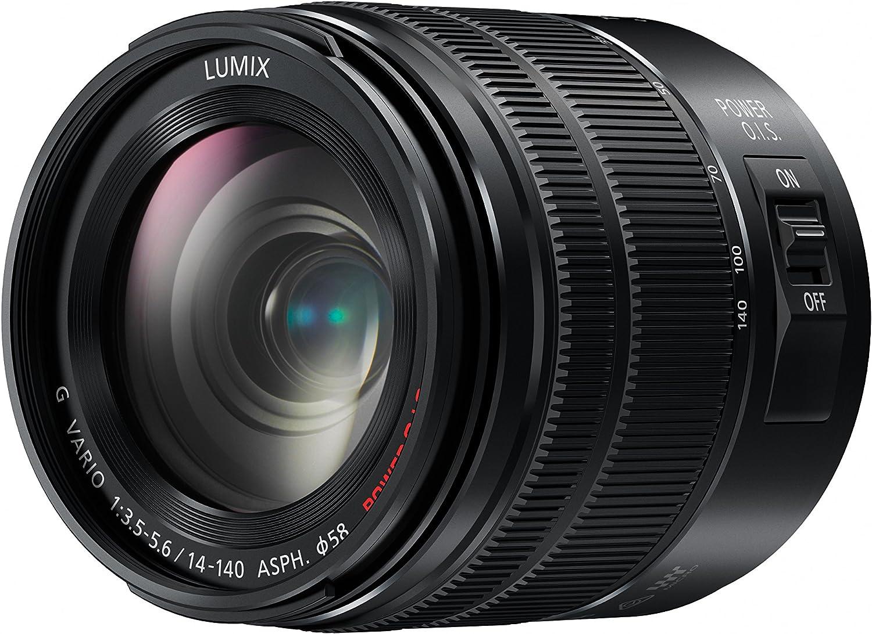 Objetivo para c/ámara Panasonic Lumix G 14-140 mm, F//3.5-5.6, OIS Negro Panasonic H-FS14140EKA