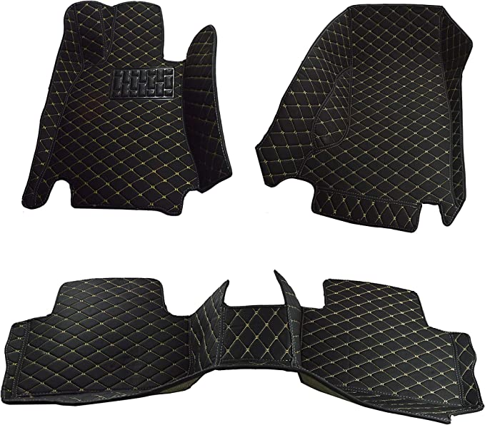 Made in USA Front and Rear All Weather Heavy Duty Full Coverage Floor Mat Floor Protection Black Single Layer Custom Fit for 2015 2016 2017 2018 2019 2020 Mercedes Benz GLA Class GLA250