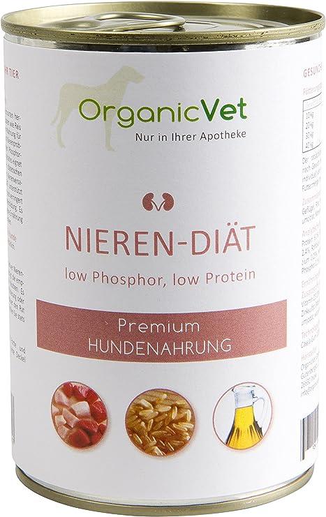 OrganicVet Comida húmeda Veterinary para Perros, Dieta renal (6 x 400 g)