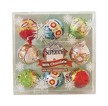 amazon com holiday milk chocolate ornaments gift 4 5 oz