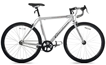 giordano rapido single speed road bike 700c white medium