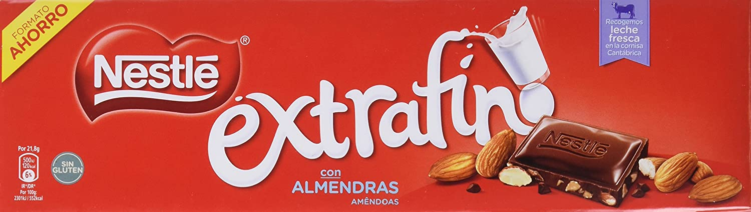 NESTLÉ EXTRAFINO Chocolate con Leche y Almendras - Tableta de Chocolate 300g: Amazon.es: Amazon Pantry