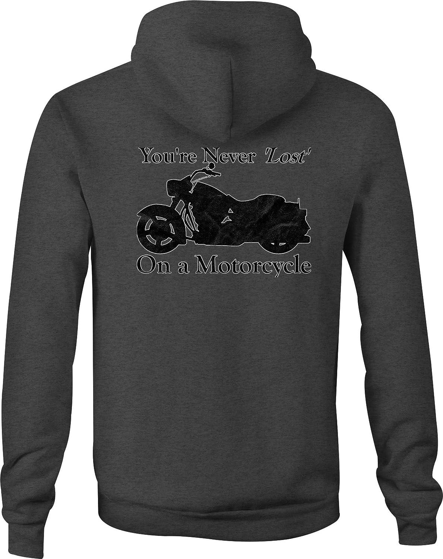 Zip Up Hoodie Motorcycle Custom Cruiser Never Lost