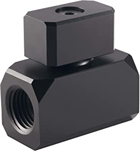 "Phanteks Glacier Series PH-BVA_BK_G1/4, Premium Ball Valve, G 1/4"", Satin Black"