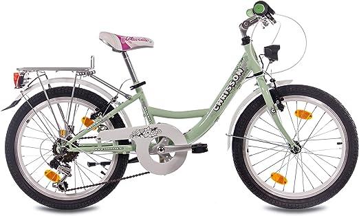 CHRISSON 20 Pulgadas – Bicicleta Infantil con Rueda de niña relaxia 2.0 con 6 velocidades Shimano STVZO Mint Verde: Amazon.es: Deportes y aire libre