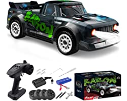 Fisca 1/16 Remote Control High Speed Car, 4WD RC Drifting Racing Cars Fast 20MPH Truck 2.4Ghz Off-Road 4X4 Buggy Car Speed &