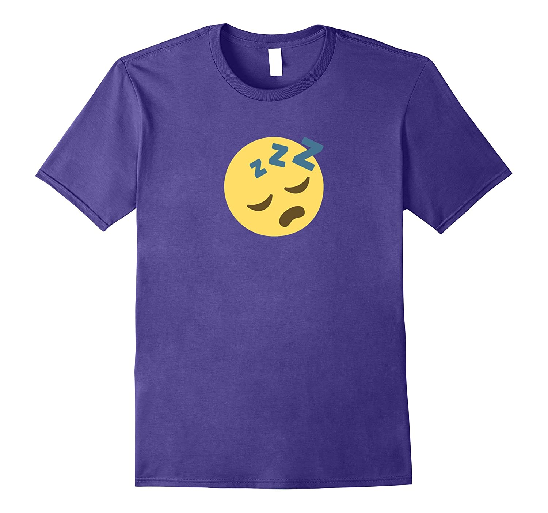 Snoring Sleeping Face Emoji T Shirt Sleep Costume-FL
