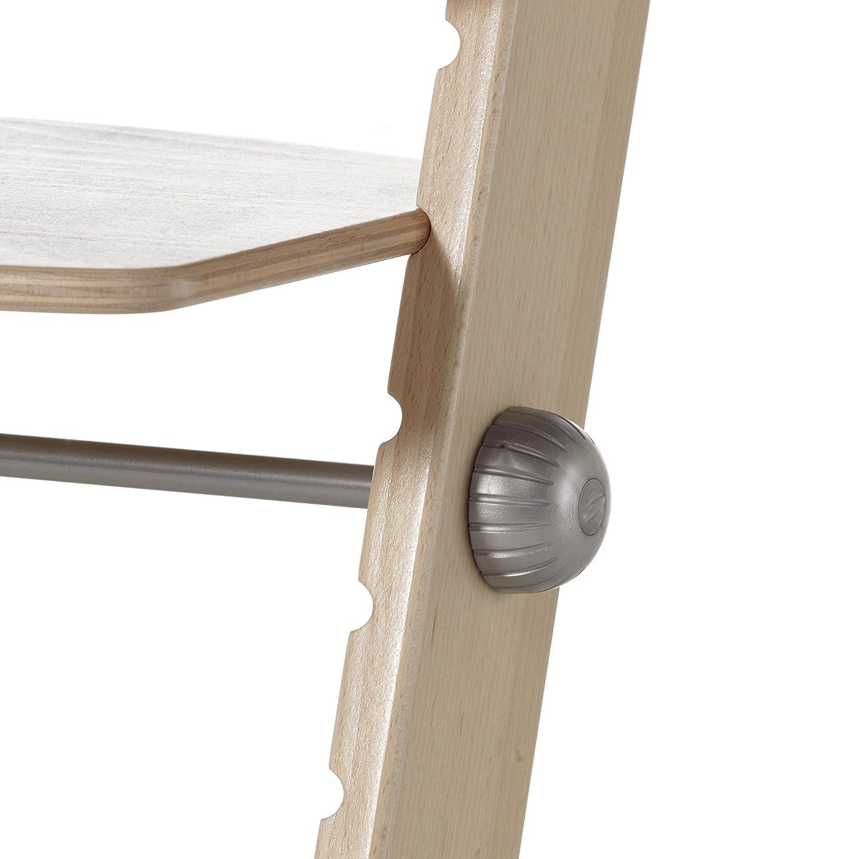 Geuther mitwachsender Hochstuhl Syt Holz Sitz- /& Fu/ßbrett verstellbar Treppenhochstuhl Babyliege separat erh/ältlich T/ÜV-gepr/üft natur Kinderhochstuhl
