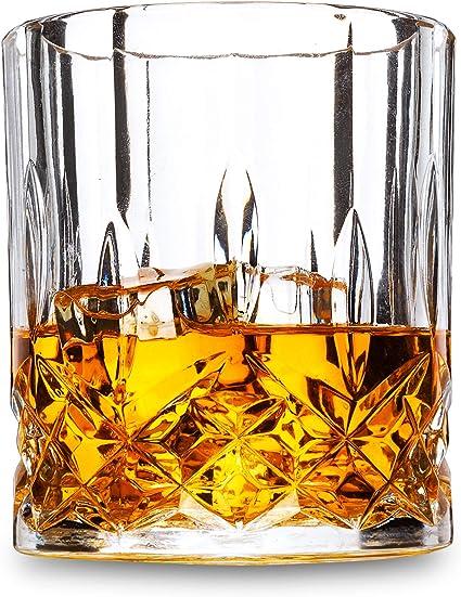 Amazon Com Lanfula Old Fashioned Whiskey Glasses Set Of 4 Premium Crystal Cocktail Tumbler For Bourbon Scotch Whisky Cognac Old Fashioned Glasses