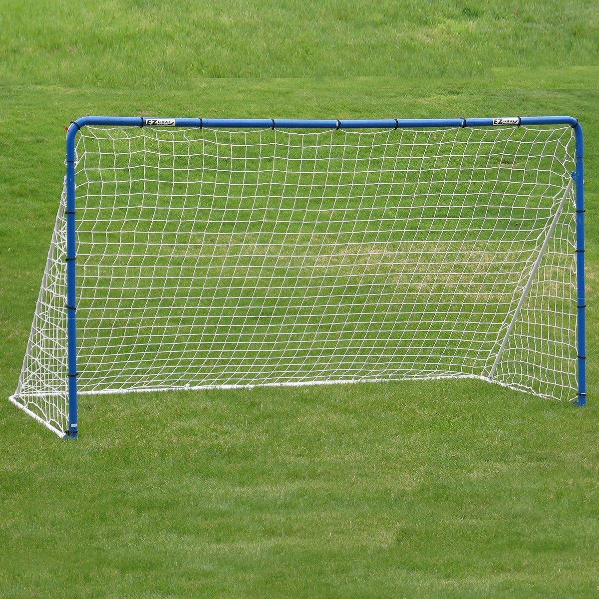 EZGoal Soccer Goal Net & Practice Rebounder 12' x 6' Blue/White [並行輸入品] B075K5CSF4