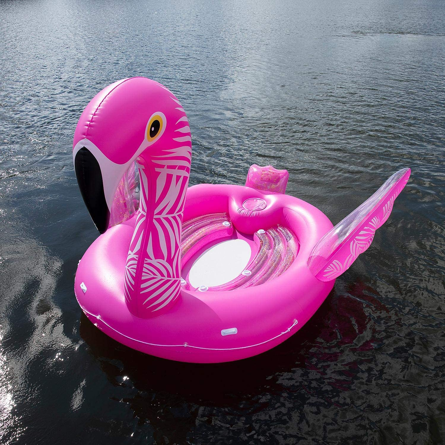 6-Person Inflatable Party Island Fanciful Flamingo