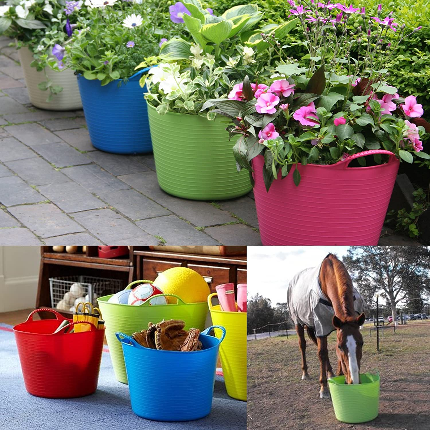 /& Tigerbox/® Antibacterial Pen Small Orange Flexible Strong Red Gorilla/® Storage Bucket Baskets ALL COLOURS AND SIZES